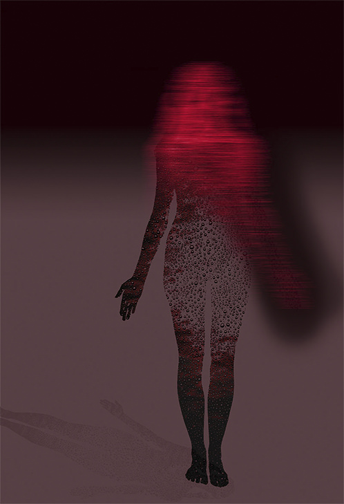Water Woman, Red / Violet Shadow - 2004